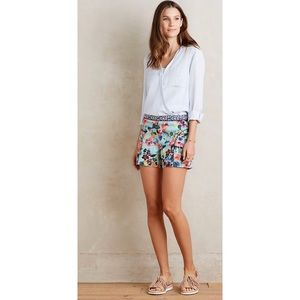Anthropologie-Cartonnier-Floral -Skyflower-Shorts
